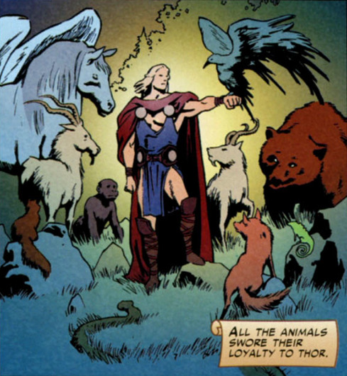 "yourdarklordsatan:  thor is a disney princess everyone go home  Where's a ""mother of god"" gif when you need one."