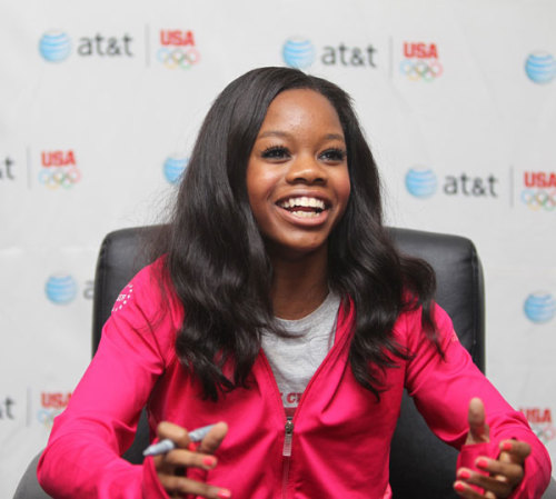 Giving back: Gabrielle Douglas speaks out about texting and driving and encourages you to take AT&T's It Can Wait pledge. Learn more about her efforts here »