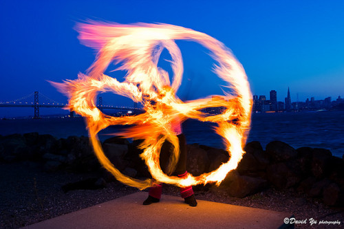 enflamme-le-ciel:  Fire Dancing Treasure Island by davidyuweb on Flickr.