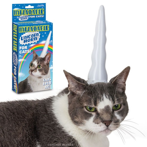 laughingsquid:  Inflatable Unicorn Horn for Cats  Multiple levels of awesomeness.