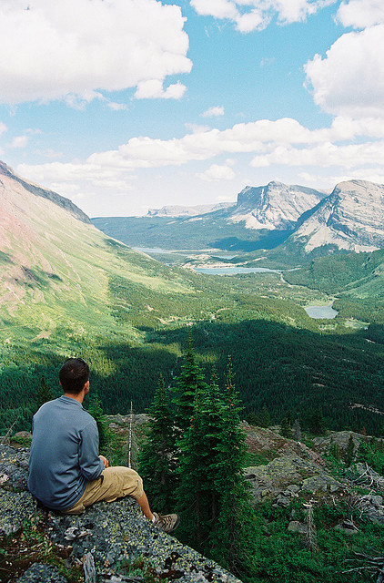 alrightdays:  Overlooking Many Glacier, Swiftcurrent Lake by C.Hill on Flickr.