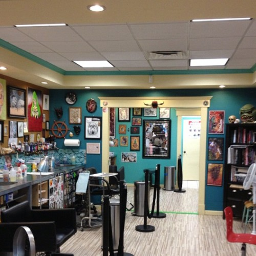 Hey everyone! We have some exciting news over at South Shore Tattoo; we are expanding the shop! With this expansion, we will now have some space to fill. We are looking for another artist; preferably with 5+ years experience working in a shop, positive attitude, drug free, drama free, and with a clientele/strong portfolio. For any inquiries, please contact us at southshoretattooco@gmail.com. Spread the word! Thank you! (Taken with Instagram at South Shore Tattoo Co.)