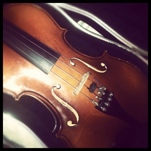 It's been a while since I've touched my violin. I miss playing T^T (Taken with Instagram)