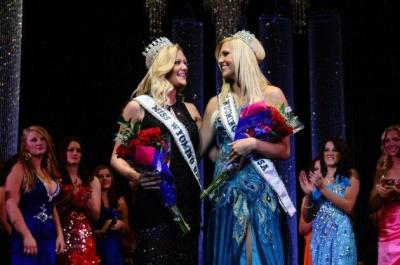 Miss Wyoming USA 2013 Courtney Gifford & Miss Wyoming Teen USA 2013 Autumn Olson take their first walk  Courtney is from Sheridan and Autumn (who was brunette last year!) is from Saratoga.