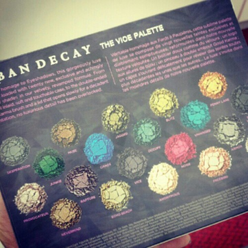 Mine. :) #urbandecay #vicepalette #ilovemyjob  (Taken with Instagram)