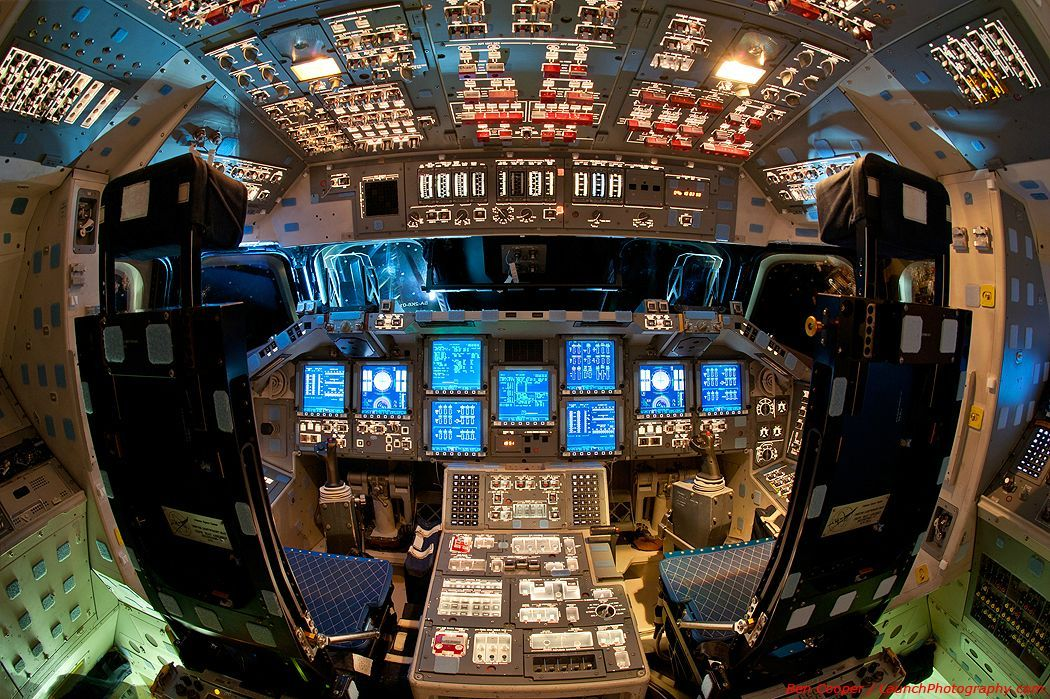 Space Shuttle Endeavor's Flight Deck [via reddit]
