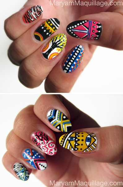 beautylish:  Awesome nail art from Maryam M.!