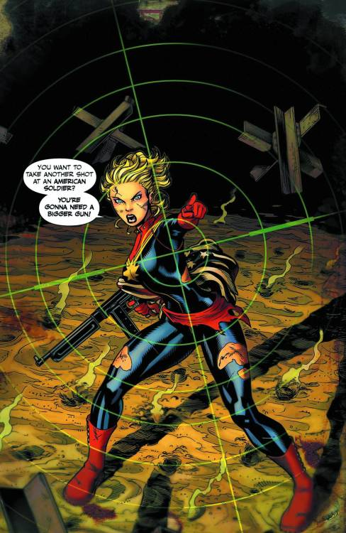 Market Monday Captain Marvel #4, written by Kelly Sue DeConnick  DeConnick and Soy are back as the biggest new book of 2012 erupts into a wild ride that may change the course of History! Witness Blazing Battlefield Action as Captain Marvel finds herself in the middle of all out war.  ~Preview~
