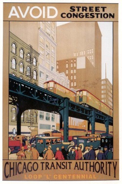 "kpelicano:  1920s advertising, Chicago ""L"""
