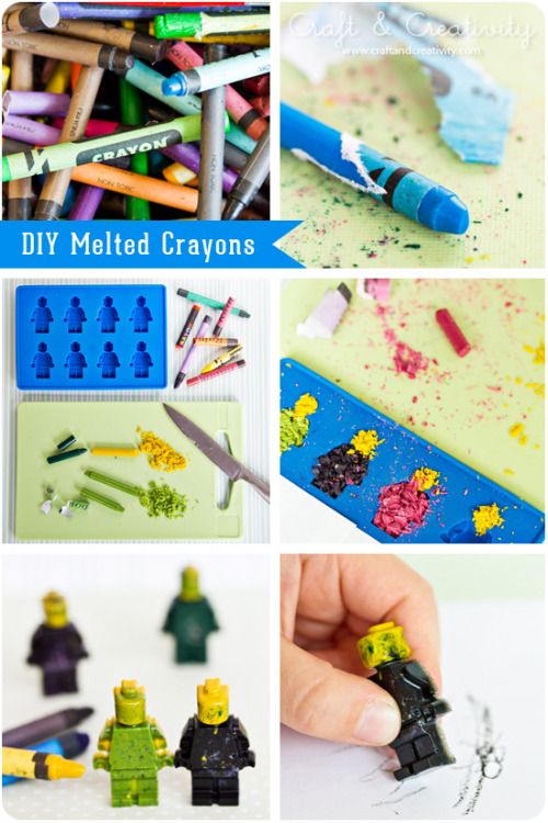 DIY Melted Crayons in Molds Tutorial from Craft and Creativity here.