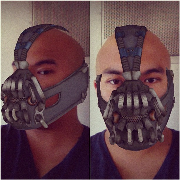 So apparently, there's an #iPhone app for this. #batman #bane #tdkr #costumes #halloween  (Taken with Instagram)