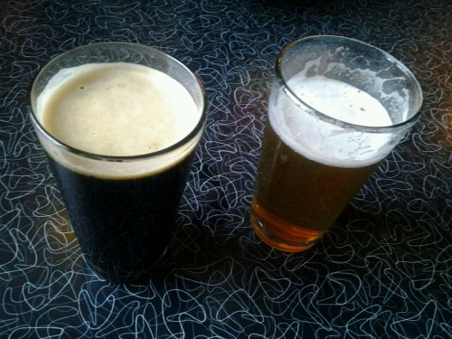 Anniversary beers! Indeed Brewing's Midnight Ryder and the new Fresh Hop… at Grumpy's Northeast.