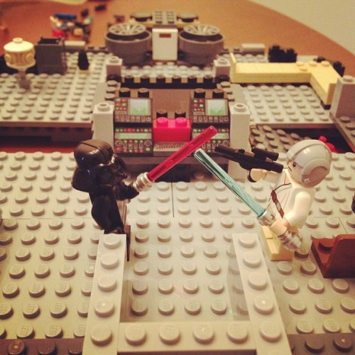 We've completed stage one. #starwars #leggos  (Taken with Instagram)