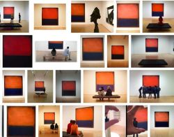 "Happy birthday to Mark Rothko! Fun fact: Rothko's No. 14, 1960 is absolutely THE most photographed piece in our permanent collection. In this screen shot of a Google image search for ""SFMOMA + Rothko,"" it's interesting to see how the orange and blue hues vary from image to image. Have you taken a photo of this marvelous work (or other paintings by Rothko)? If so, photo reply w/ it!"