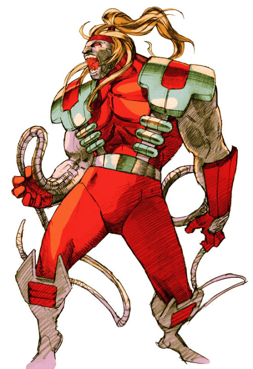 dogpool:  Omega Red Marvel vs. Capcom 2 art. -Dogpool
