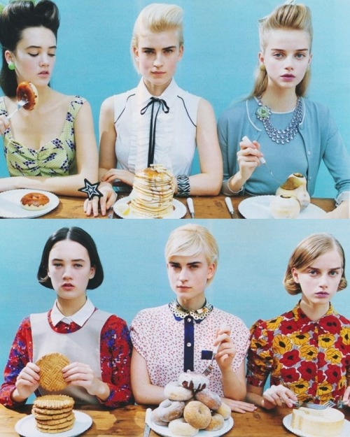 gethecool:  Jana Knauerová, Laragh and Lovisa Ingman for Spur february 2012 by Hiroko Matsubara
