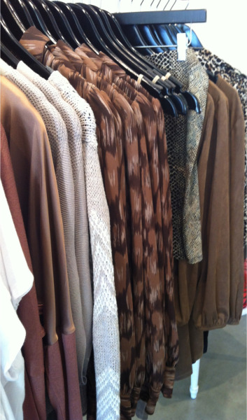 littleblackdressok:  Loving this color palette of neutrals plus prints right now.