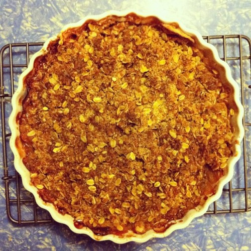 Apple crisp. Bam. (Taken with Instagram at Kneaded Love HQ)