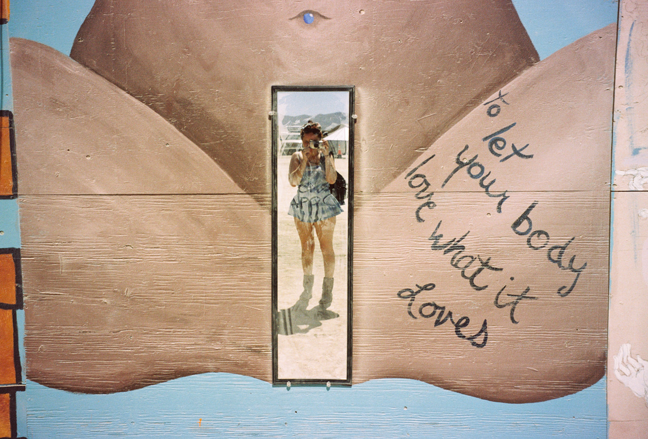 Self portrait at Center Camp. Black Rock City, NV - August 2012 ©Lauren Randolph