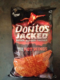 USA, Doritos Jacked Ranch Dipped Hot Wings packaging, 2012. From the Liebold Archives via Fred Liebold.