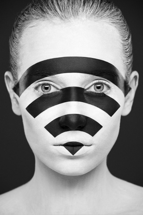 Black & White Face Paintings