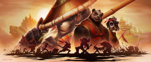 gamefreaksnz:  Mists of Pandaria Promotional Art Created by John Polidora | Blog