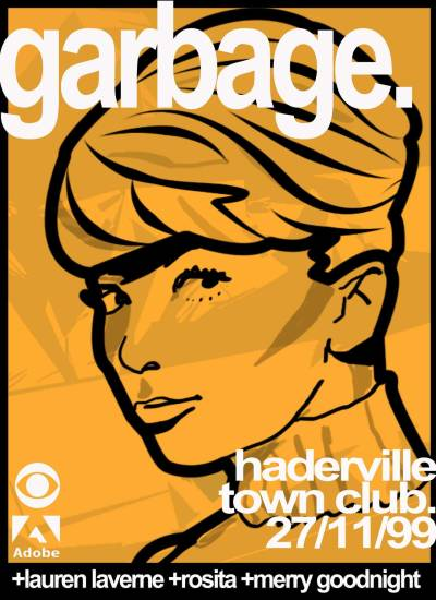 Garbage fictional gig poster. Still love their 3rd album.