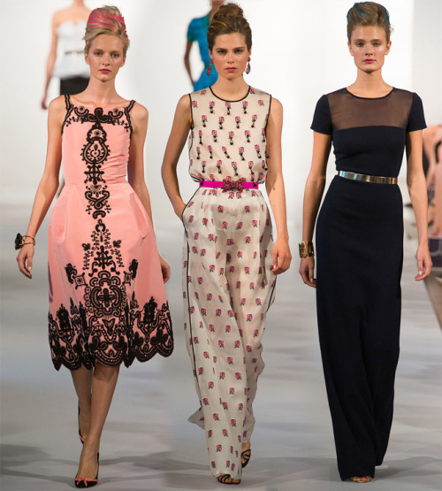 what-do-i-wear:  Oscar de la Renta (image: missmoss)   FAR RIGHT. LOVE IT