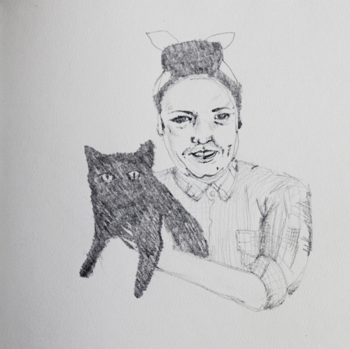 I drew this of me and this fulla Catpin. I think I'll make a series of these shitty portraits.