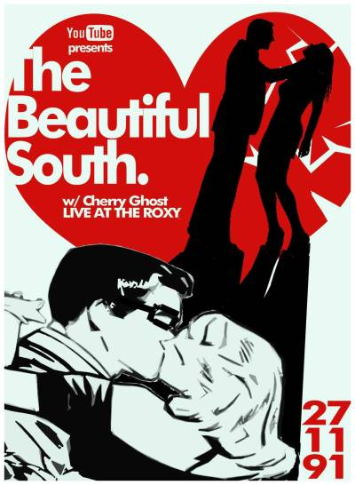 The Beautiful south fictional gig poster
