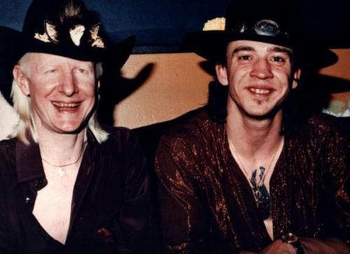 Johnny Winter and Stevie Ray Vaughan