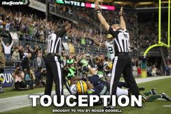 thescore:  Congratulations to the NFL on it's first ever, TOUCEPTION.  Thanks Roger.