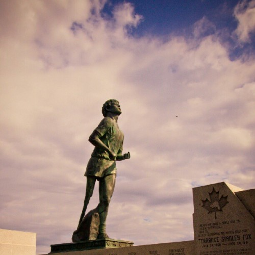 #TerryFox Monument near #ThunderBay #Ontario. #MyOntario #Hero #GreatCanadian #Canada  (Taken with Instagram)