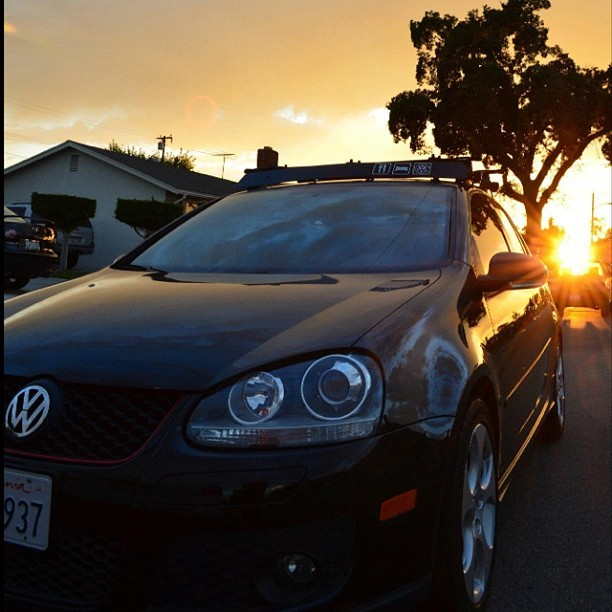 I get so jealous when it comes to her. C/o @limeburrito #gti #nofilter #volkswagen #germanengineering #cars #roofrack #sunset #photography #instaphoto #instamood #instagood #boyfriend #mistress (Taken with Instagram)