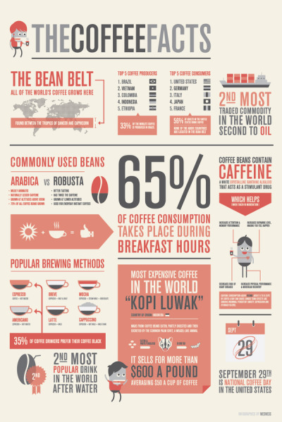 The Coffee Facts by Med Ness