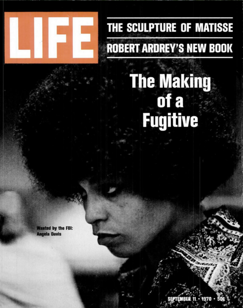 Angela Davis on the cover of Life Magazine, September 11, 1970.