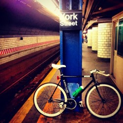 Waiting for the F train. #NYC (Taken with Instagram)
