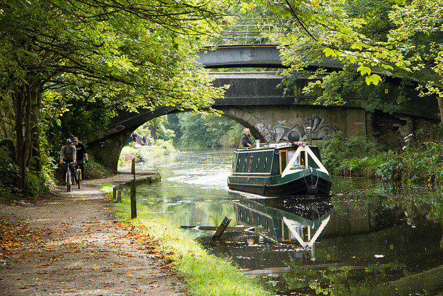 Canal Barge And Bikes by rofanator on Flickr.