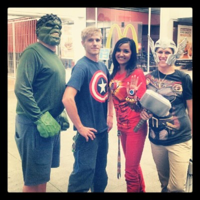 stevieebabyy23:  AVENGERS!!! ASSEMBLE! // #Captain #America #Thor #Iron #Man #Hulk #Avengers (Taken with Instagram)