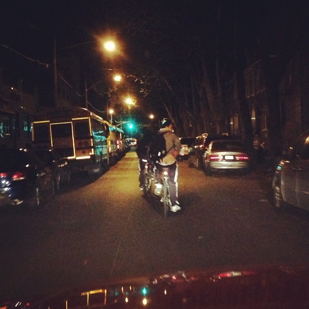 Biker decided to moon me. #bikes #moon #nyc #brooklyn @kevyy_kev  (Taken with Instagram)
