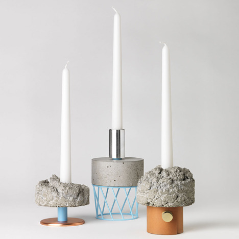 Concrete Candlesticks.