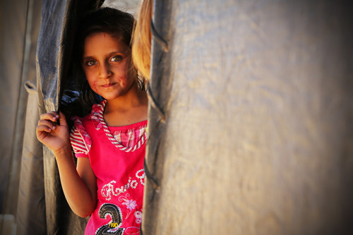 Syrian children account for two-thirds of the refugees of the Za'atari camp in Jordan, victims of a bloody conflict that has been raging for more than 18 months. Save the Children has launched a campaign to draw attention to their plight. If you would like to donate, or sign their petition, please visit savethechildren.org.uk/syria See our video interactive, gallery and article