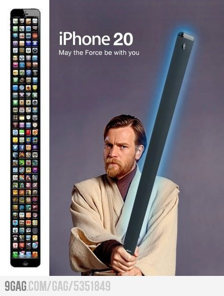futuristgerd:  (via 9GAG - IPhone 20 - May the Force be with you!) Where can I get one? :)