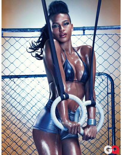 Cassie Graces Back Pages of October GQ Never a true fan of Diddy's Chick, but these pictures are pulling me in that direction.