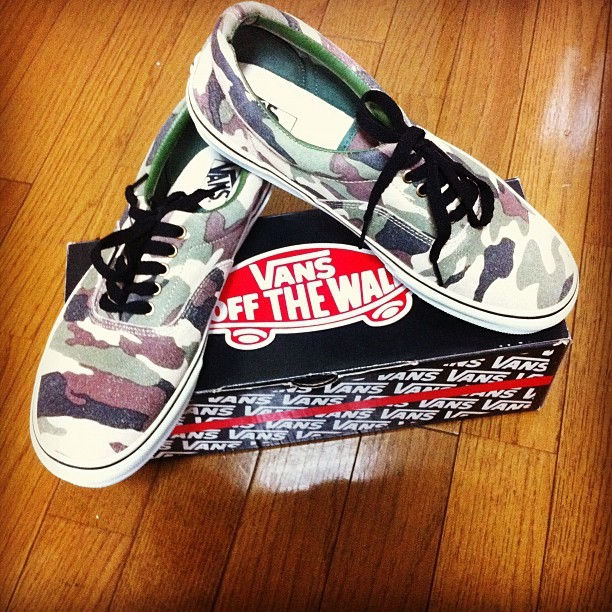 #camo #new #vans  (Taken with Instagram)