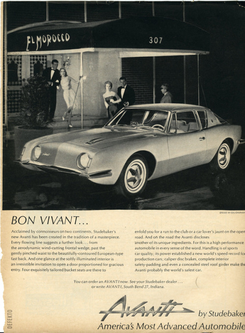 Avanti. My dream car.