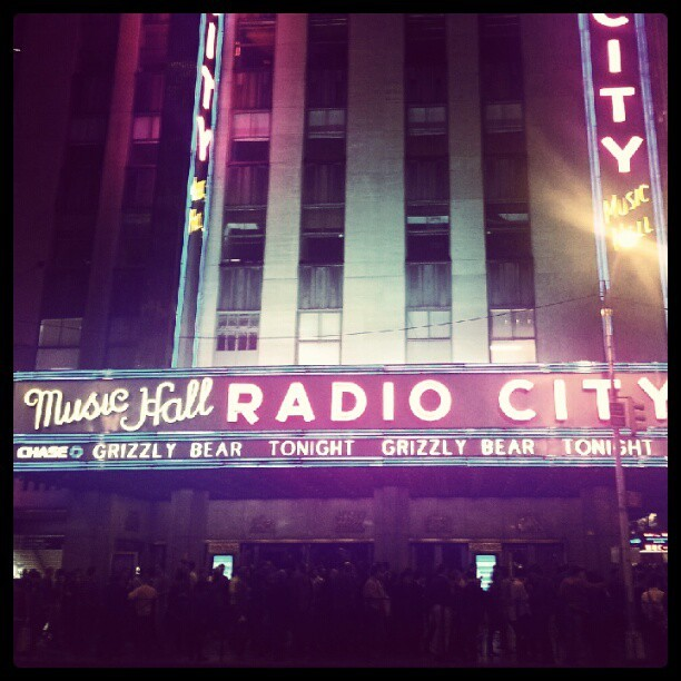 Grizzly Bear live at Radio City Music Hall. It was a great show. (Taken with Instagram)