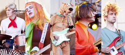 MGMT dressed as the cast of scooby doo, at New orleans in October 31 of 2010.