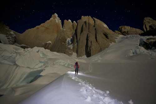 Full moon over the Torre Massif Photo: Jon Griffith