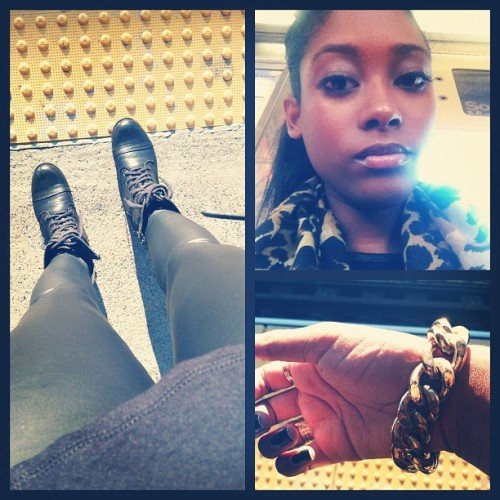 All Black and Gold today #fashionista #ootd (Taken with Instagram)